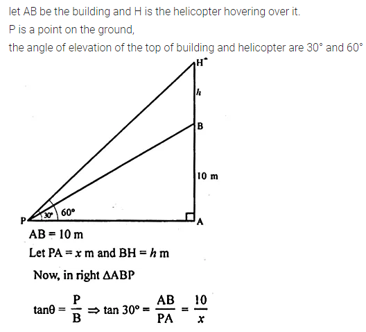 ML Aggarwal Class 10 Solutions for ICSE Maths Chapter 20 Heights and Distances Ex 20 Q15