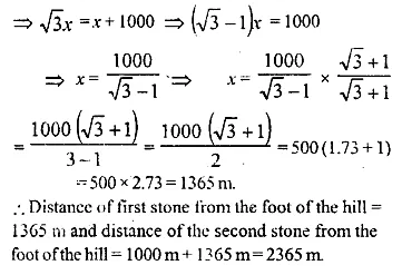 ML Aggarwal Class 10 Solutions for ICSE Maths Chapter 20 Heights and Distances Ex 20 Q19.1