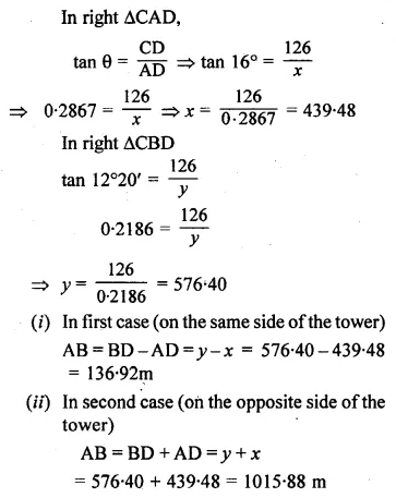 ML Aggarwal Class 10 Solutions for ICSE Maths Chapter 20 Heights and Distances Ex 20 Q30.1