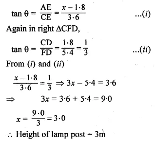 ML Aggarwal Class 10 Solutions for ICSE Maths Chapter 20 Heights and Distances Ex 20 Q31.1