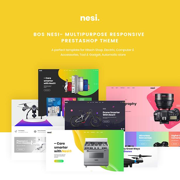 Bos Nesi - a premium multipurpose responsive Prestashop 1.7 theme