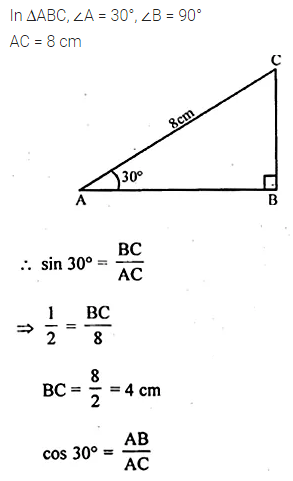 ML Aggarwal Class 10 Solutions for ICSE Maths Chapter 20 Heights and Distances MCQS Q9