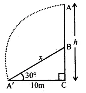 ML Aggarwal Class 10 Solutions for ICSE Maths Chapter 20 Heights and Distances MCQS Q4