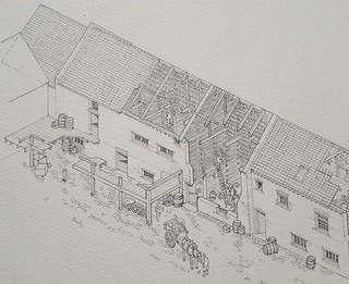 325 Whapload Road, Lowestoft (WiP 7): Completed pencil drawing, left-hand end
