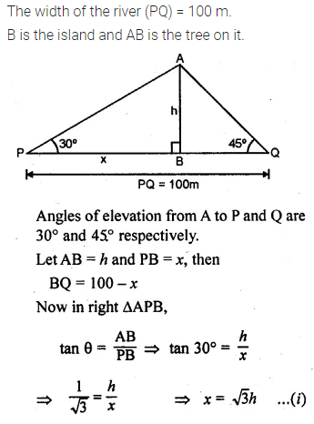 ML Aggarwal Class 10 Solutions for ICSE Maths Chapter 20 Heights and Distances Chapter Test Q9