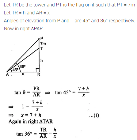 ML Aggarwal Class 10 Solutions for ICSE Maths Chapter 20 Heights and Distances Chapter Test Q3