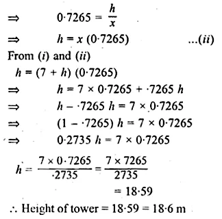 ML Aggarwal Class 10 Solutions for ICSE Maths Chapter 20 Heights and Distances Chapter Test Q3.1