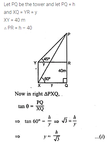 ML Aggarwal Class 10 Solutions for ICSE Maths Chapter 20 Heights and Distances Chapter Test Q6.1