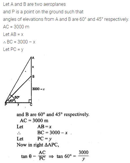 ML Aggarwal Class 10 Solutions for ICSE Maths Chapter 20 Heights and Distances Chapter Test Q2
