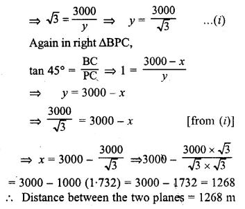 ML Aggarwal Class 10 Solutions for ICSE Maths Chapter 20 Heights and Distances Chapter Test Q2.1