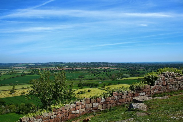 View from  Beeston Castle