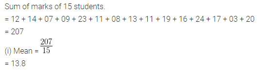 ML Aggarwal Class 10 Solutions for ICSE Maths Chapter 21 Measures of Central Tendency Ex 21.1 Q2