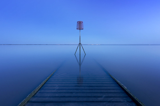 Blue Hour, RNLI Wooden Jetty, Lytham, Lancashire