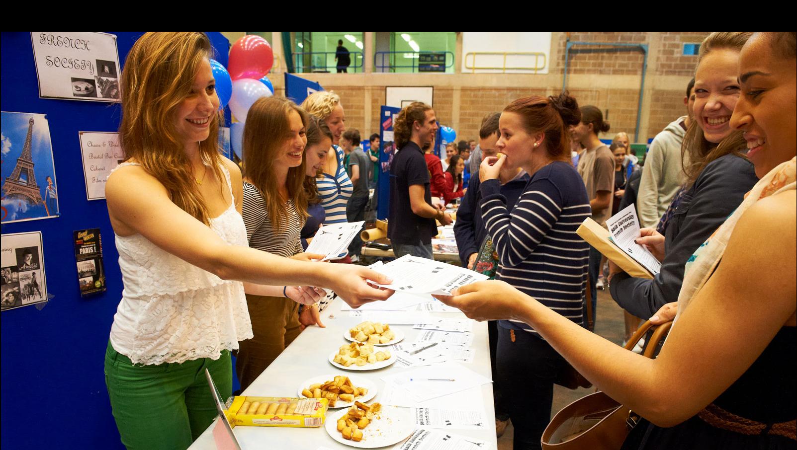 Students enjoying Freshers' Week