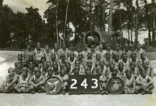 Marine Scout Bombing Squadron 243 Pilots and Ground Officers on Emirau Island  South Pacific September  October 1944.