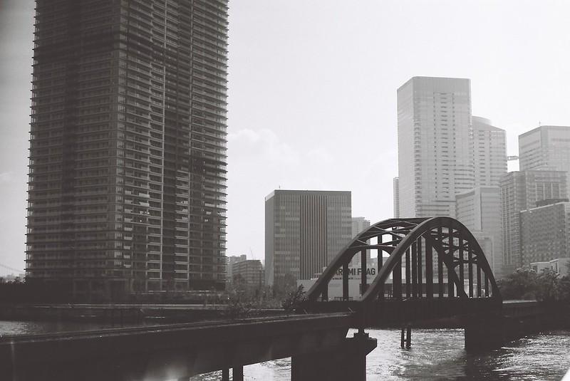 Leica M3+Carl Zeiss Planar50mm f2 0+FUJIFILM NEOPAN100 ACROS豊洲廃線の鉄橋