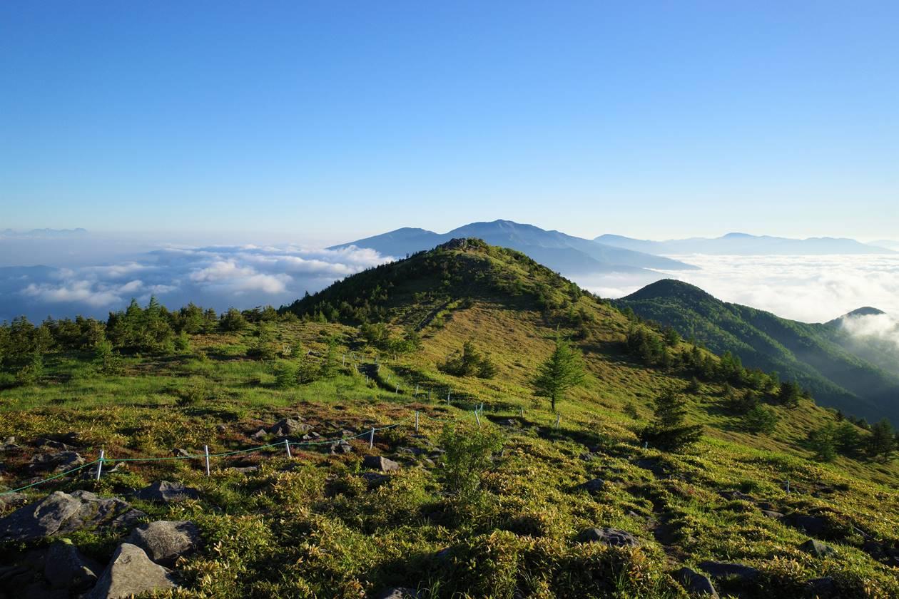 湯ノ丸山から角田山への稜線