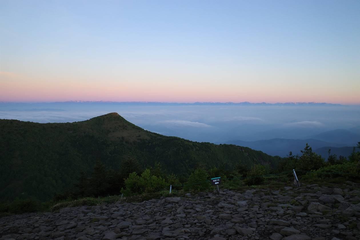 湯ノ丸山 山頂からの北アルプス