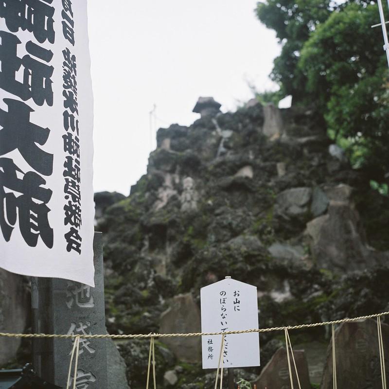 Rolleiflex 2 8F+FUJIFILM PRO 400H池袋本町氷川神社の朝顔市