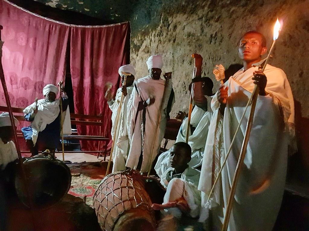 Ceremonia w Bet Amanuel Lalibela