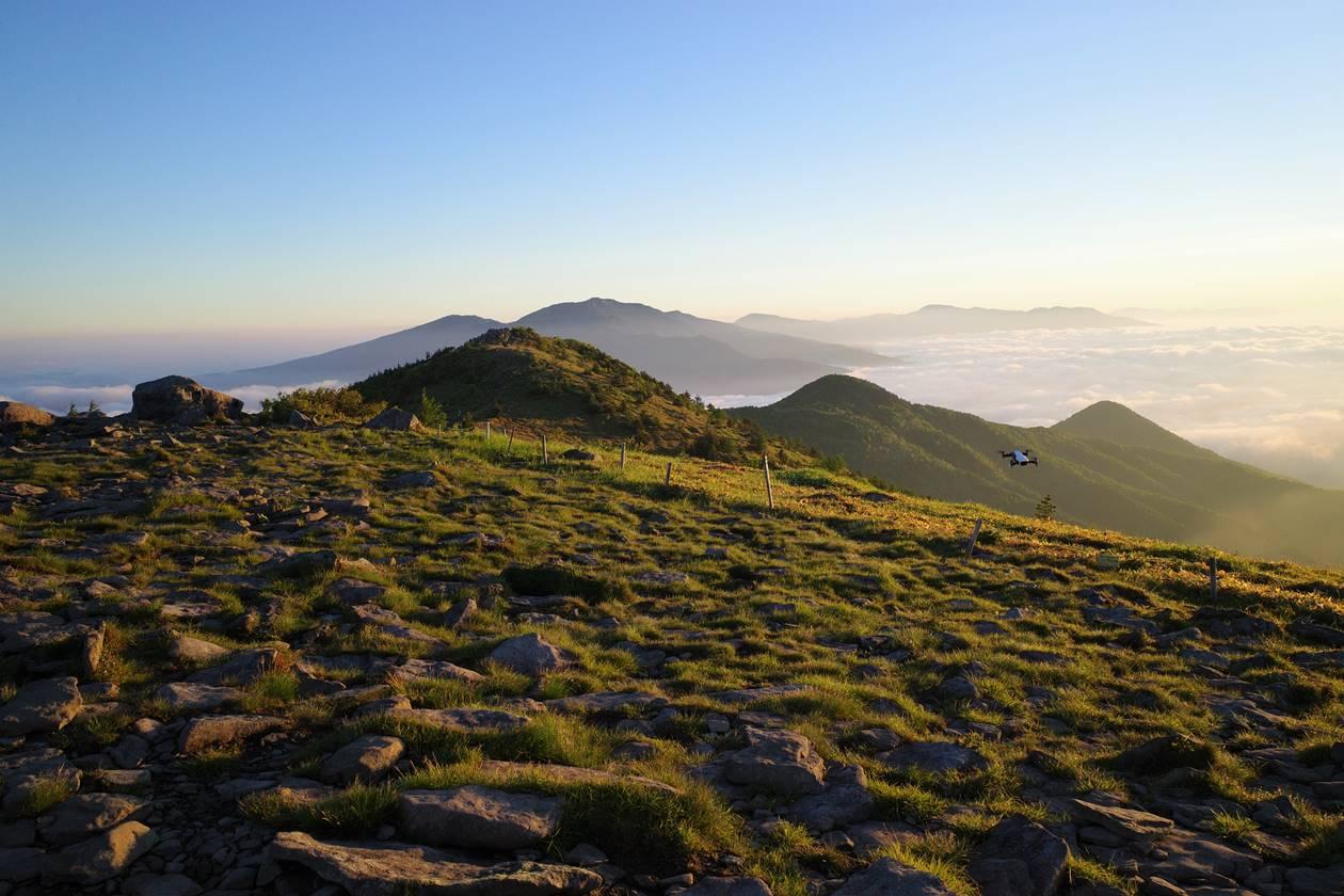 湯ノ丸山 朝日と雲海 ご来光登山