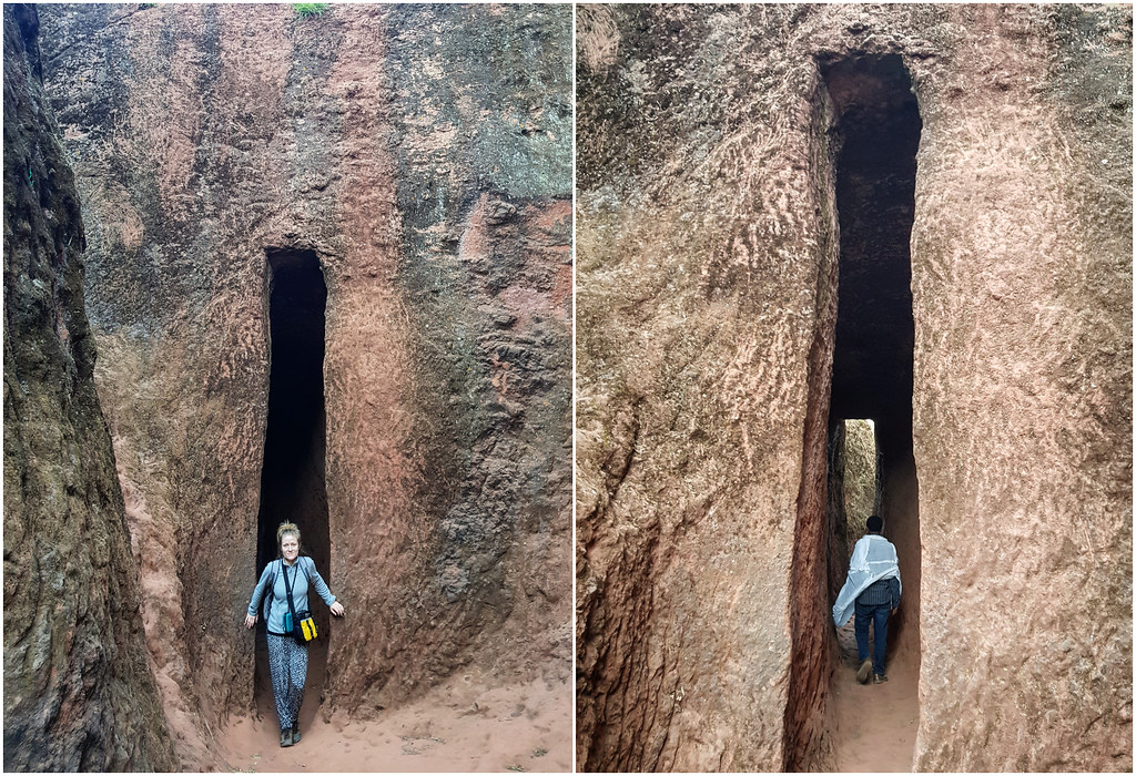 Kościoły Lalibeli tunele i przejścia Etiopia