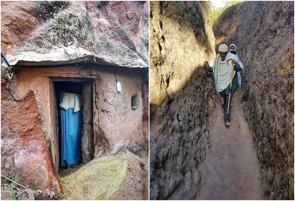 Kościoły Lalibeli zakamarki Etiopia