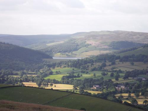 View from Offerton Edge: Ladybower Reservoir and Derwent Moors SWC Walk 343 - Hope to Hathersage or Bamford (via Castleton)
