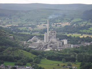 Hope Cement Works, The Great Ridge and Kinder Scout, from near Rebellion Knoll SWC Walk 343 - Hope to Hathersage or Bamford (via Castleton)