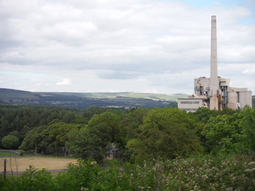 Hope Cement Works, from Pindale Road SWC Walk 343 - Hope to Hathersage or Bamford (via Castleton)