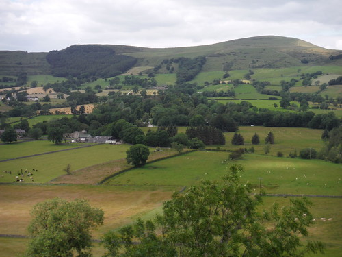 View up Hope Valley, from Pindale Road SWC Walk 343 - Hope to Hathersage or Bamford (via Castleton)