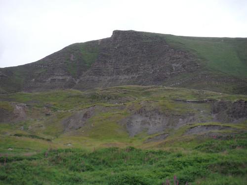 Mam Tor Landslip Area from below SWC Walk 343 - Hope to Hathersage or Bamford (via Castleton)