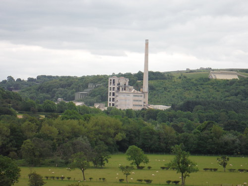 Hope Cement Works, from pasture north of Hope SWC Walk 343 - Hope to Hathersage or Bamford (via Castleton)