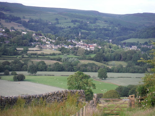 View from Offerton Moor: Hathersage, Stanage Edge and Higger Tor SWC Walk 343 - Hope to Hathersage or Bamford (via Castleton)