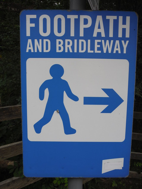 Footpath Sign, Hope Cement Works SWC Walk 343 - Hope to Hathersage or Bamford (via Castleton)