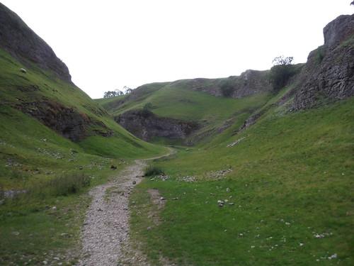Amphitheatre at bottom of Cave Dale SWC Walk 343 - Hope to Hathersage or Bamford (via Castleton)