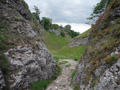 Peveril Castle, above Cave Dale SWC Walk 343 - Hope to Hathersage or Bamford (via Castleton)