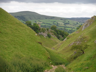 View down Cave Dale (Peveril Castle and Lose Hill) SWC Walk 343 - Hope to Hathersage or Bamford (via Castleton)