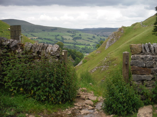View from Start of Descent through Cave Dale SWC Walk 343 - Hope to Hathersage or Bamford (via Castleton)
