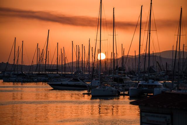 Alimos marina - sunset