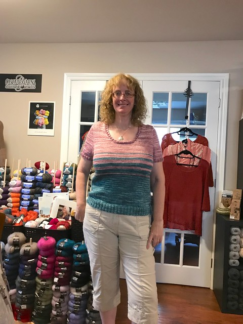We love Linda's third Knit Me Baby One More Time by Mary Annarella!