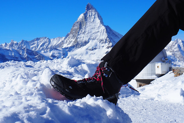 Snow boots, Zermatt, Switzerland