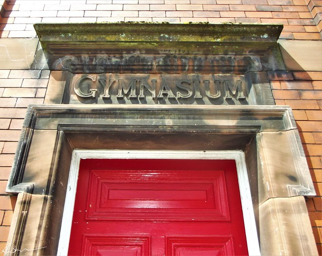 Behind the big red door...