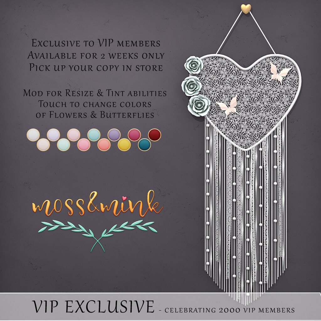 {moss&mink} VIP Exclusive GIFT – 2k Members