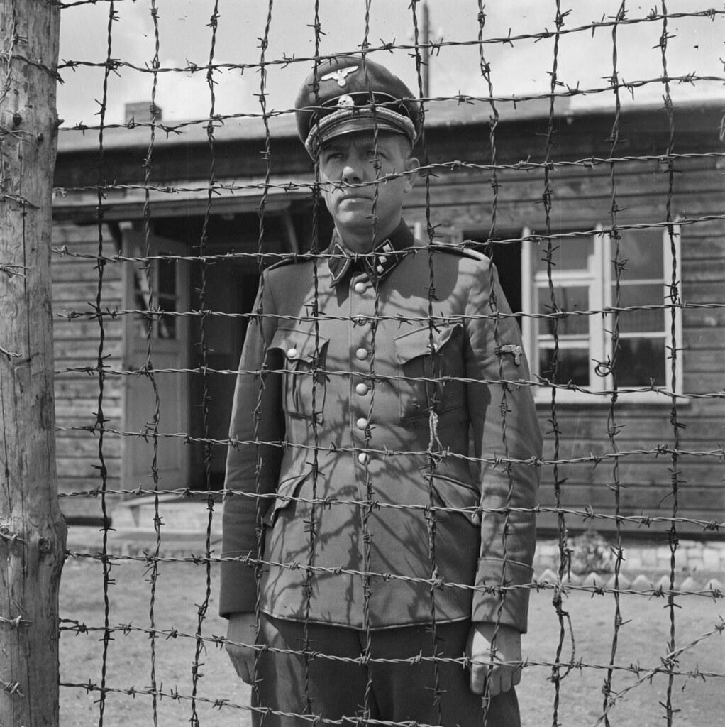 El nazi Karl Peter Berg durante su encarcelamiento. Fotografía de Sem Presser