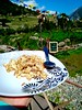 Breakfast in the mountains... On the way to Chitkul Himachal India.