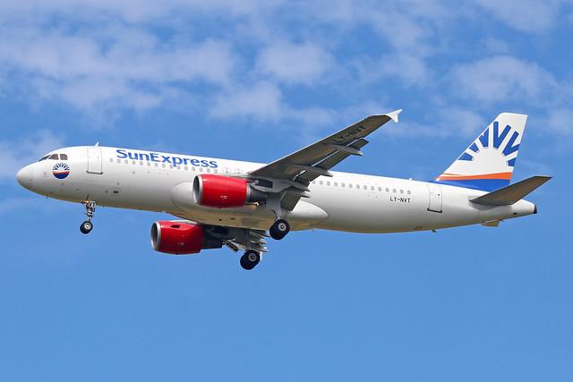 LY-NVT  -  Airbus A320-214  -  Sun Express  -  LTN/EGGW 5/7/19