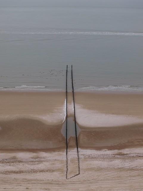 Wellenbrecher an der Nordsee