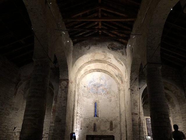 Apse with traces of Romanesque paintings, Sant Climent Church, Taüll, Spain