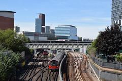 Jubilee line train departing Stratford